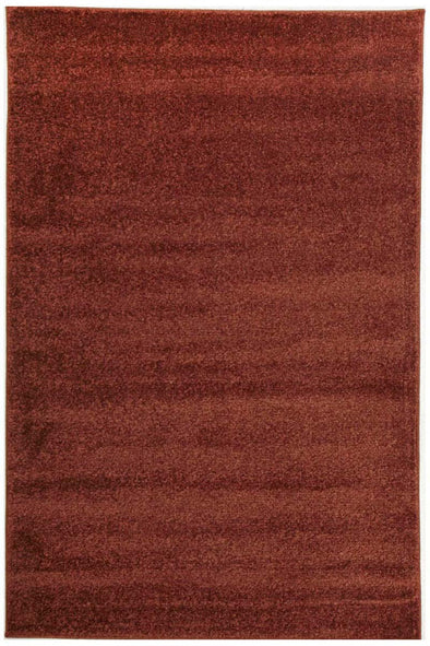 Dense Plain Rust Coloured Rug - Fantastic Rugs