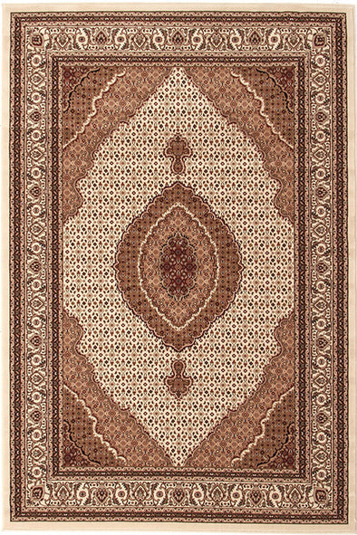 Stunning Formal Oriental Design Rug Cream