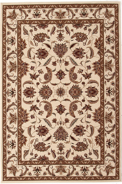Stunning Formal Floral Design Rug Cream - Fantastic Rugs