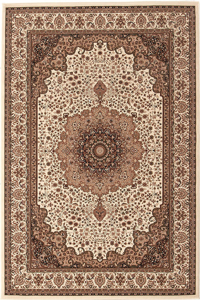 Stunning Formal Medallion Design Rug Cream