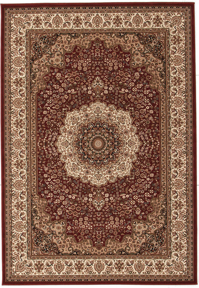 Stunning Formal Medallion Design Rug Red