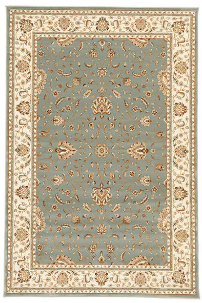 Stunning Formal Classic Design Rug Blue