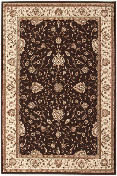 Stunning Formal Classic Design Rug Brown - Fantastic Rugs