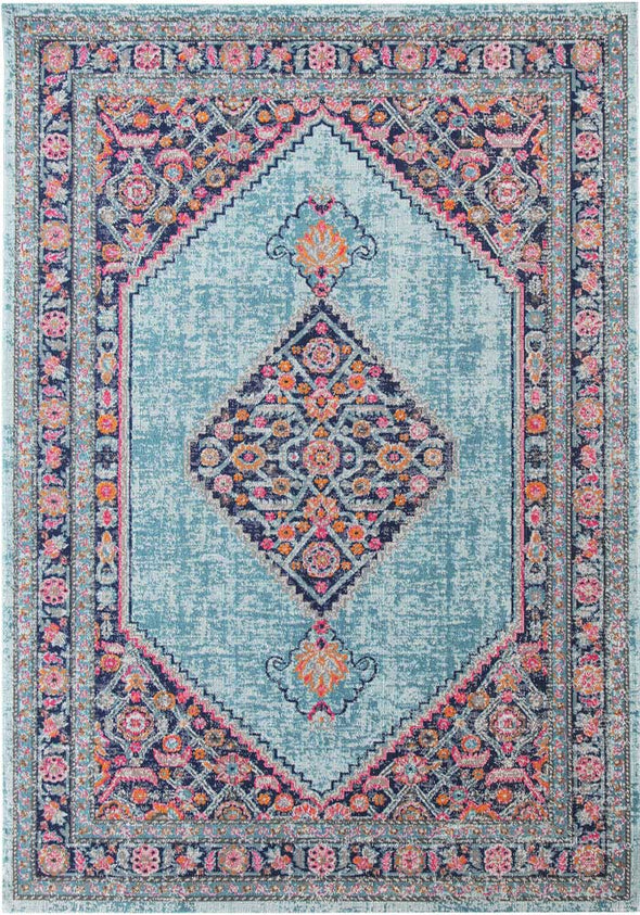 Whisper Diamond Blue Rug - Fantastic Rugs