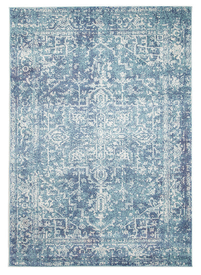 Muse Blue Transitional Rug - Fantastic Rugs
