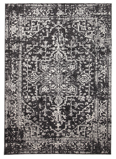 Scape Charcoal Transitional Rug - Fantastic Rugs