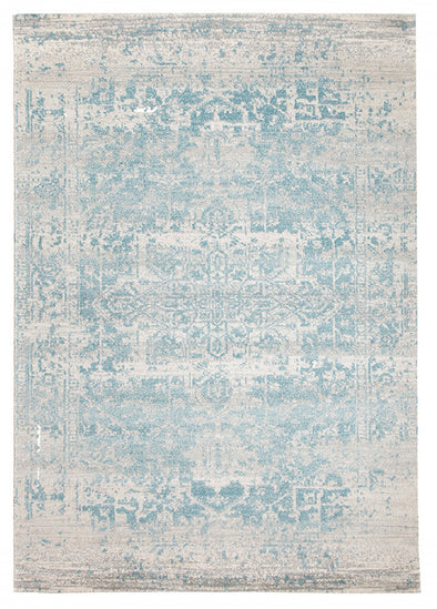 Glacier White Blue Transitional Rug - Fantastic Rugs