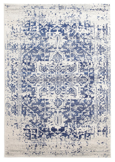 Horizon White Navy Transitional Rug - Fantastic Rugs