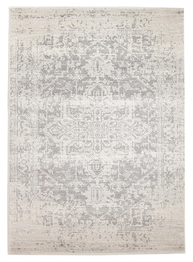 Dream White Silver Transitional Rug - Fantastic Rugs