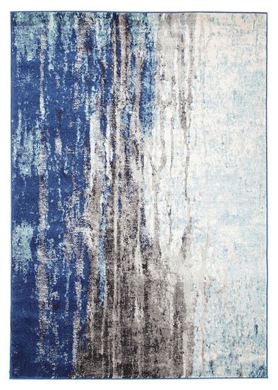 Transpose Blue Transitional Rug - Fantastic Rugs