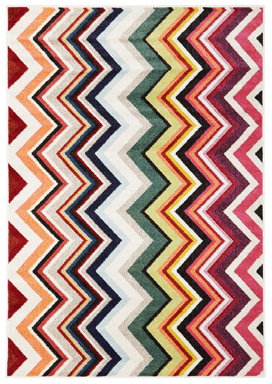 Loti Modern Multi Coloured Rug - Fantastic Rugs