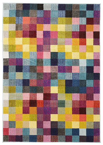 Pixel Modern Multi Coloured Rug - Fantastic Rugs