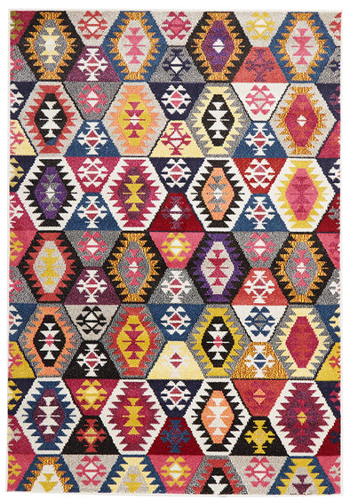 Kelim Modern Multi Coloured Rug - Fantastic Rugs