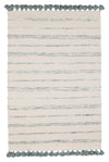 Coconut Cotton Wool Viscose Reversible White Rug