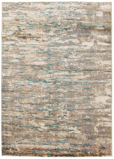 Alyssa Stunning Modern Rug Natural Turquoise - Fantastic Rugs