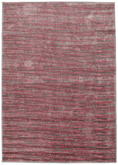 Pandora Contemporary Stripe Rug Pink Grey - Fantastic Rugs