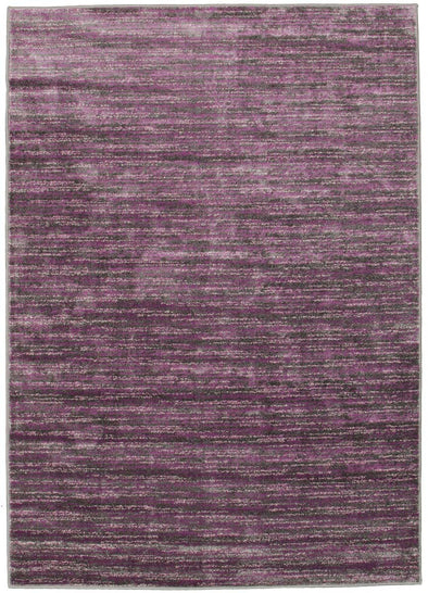Pandora Contemporary Stripe Rug Aubergine Grey - Fantastic Rugs