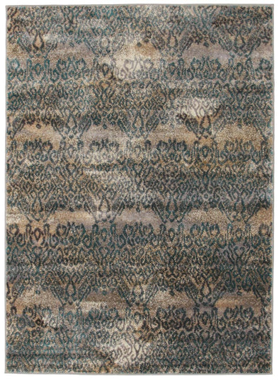 Hanna Lace Rug Blue Natural - Fantastic Rugs