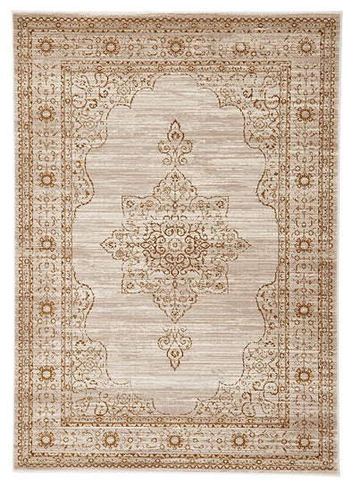 Kings Court Designer Rug Ivory Beige - Fantastic Rugs