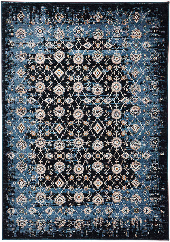 Royal Kashan Designer Rug Blue Navy