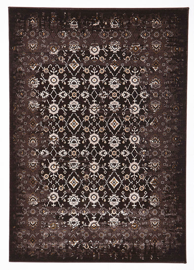 Royal Kashan Designer Rug Chocolate Brown - Fantastic Rugs