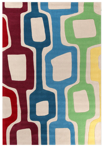 Funk Retro White Rug - Fantastic Rugs
