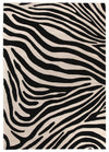 Zebra Deluxe Black And White Rug - Fantastic Rugs