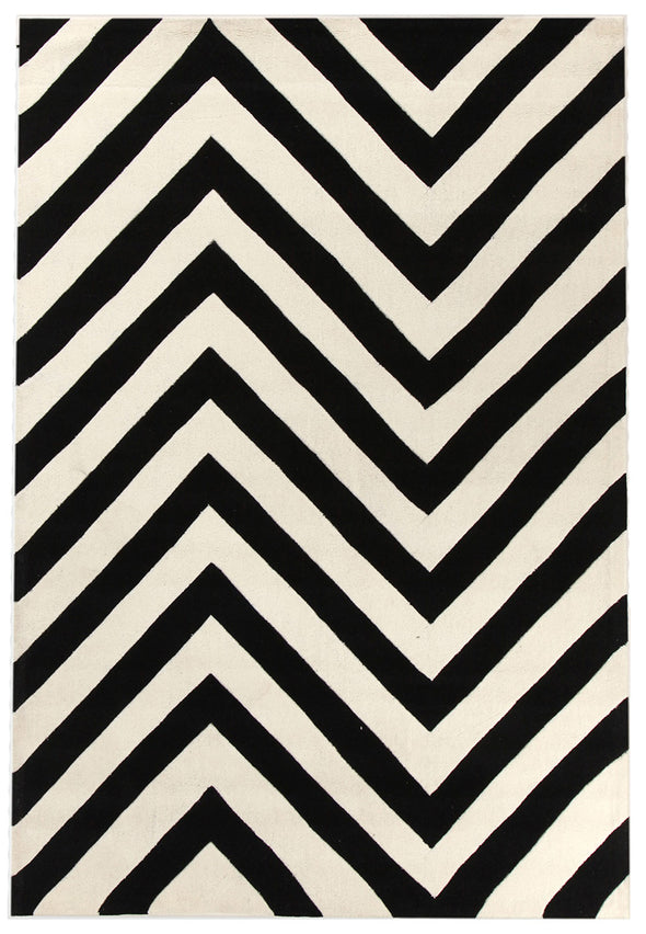 Chevron Black And White Rug - Fantastic Rugs
