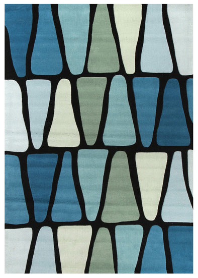 Rock Star Blue And Green Rug - Fantastic Rugs
