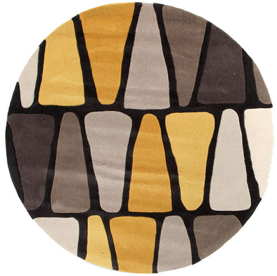 Rock Star Brown And Gold Rug