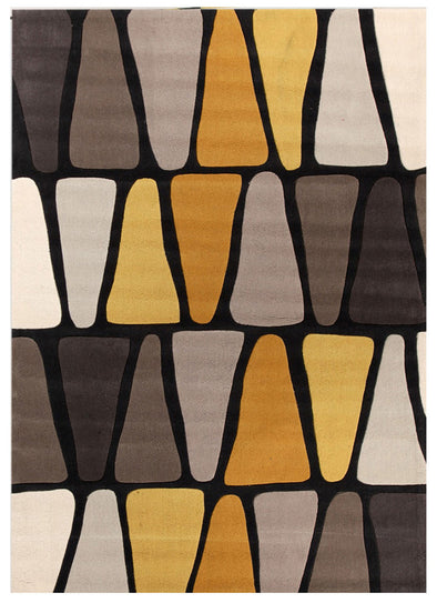 Rock Star Brown And Gold Rug - Fantastic Rugs