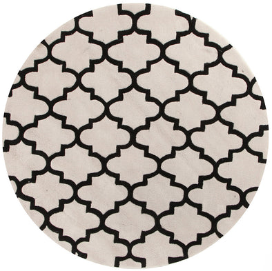 Lattice Off White And Black Rug