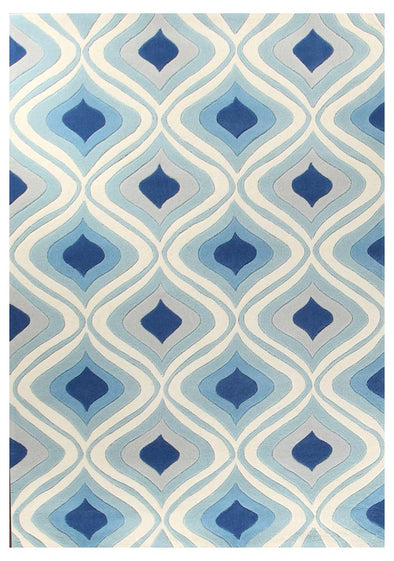 Stunning Oil Lamp Blue Rug - Fantastic Rugs
