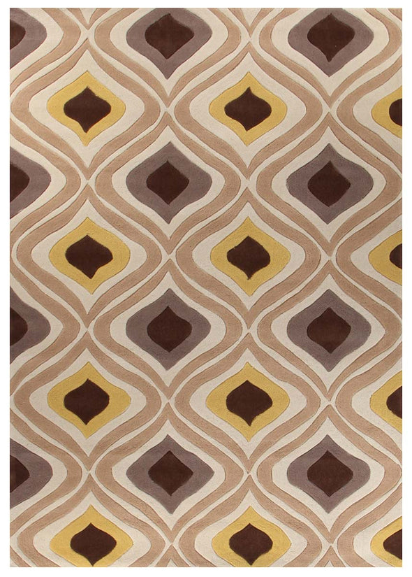 Stunning Oil Lamp Yellow Rug - Fantastic Rugs
