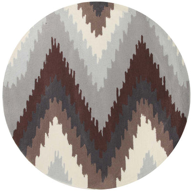 Ikat Chevron Beige Brown Rug