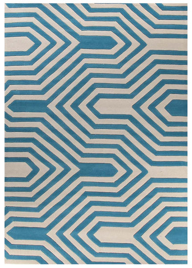 Circuit Board Blue Rug - Fantastic Rugs