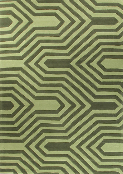 Circuit Board Green Rug