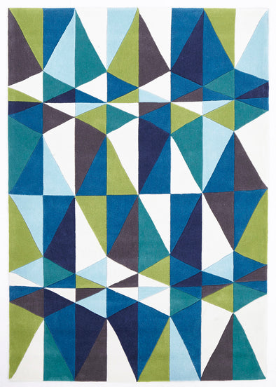 Blue and Green Crystal Design Rug - Fantastic Rugs