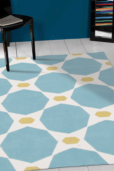 Blue and Yellow Hive Rug - Fantastic Rugs