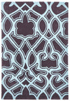 Gothic Tribal Design Rug Smoke Grey and Blue - Fantastic Rugs