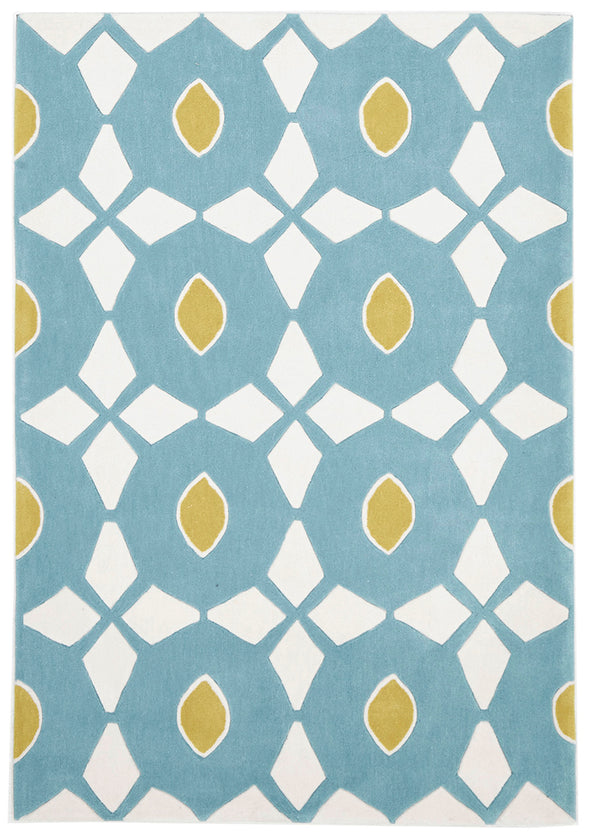 Blue and Yellow Nest Rug - Fantastic Rugs