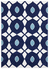 Navy and Yellow Nest Rug - Fantastic Rugs