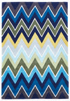Eclectic Chevron Rug Navy Blue - Fantastic Rugs
