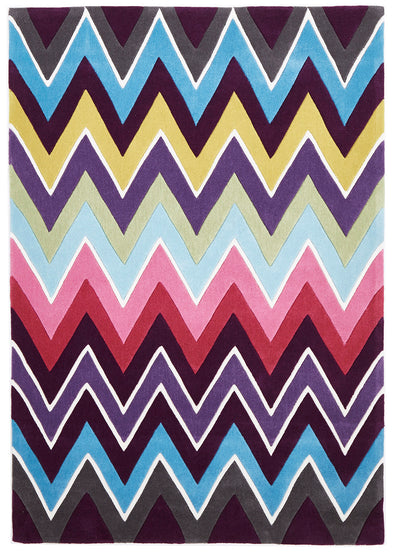 Eclectic Chevron Rug Multi Coloured