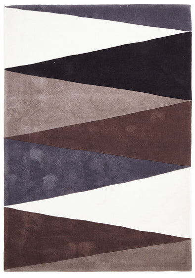 Cascade Modern Rug Brown Grey - Fantastic Rugs