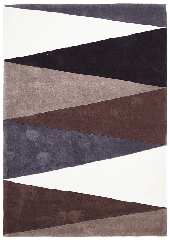 Cascade Modern Rug Brown Grey