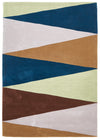 Cascade Modern Rug Blue Green Brown