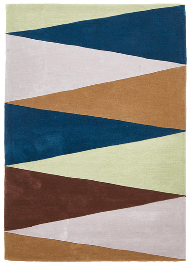 Cascade Modern Rug Blue Green Brown - Fantastic Rugs