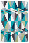 Blue and Grey Crystal Design Rug - Fantastic Rugs