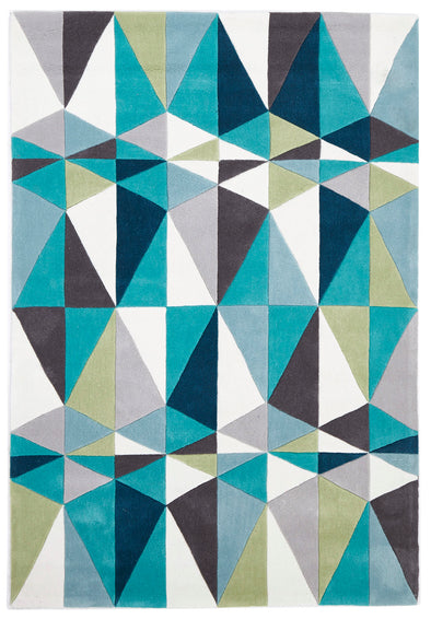 Blue and Grey Crystal Design Rug